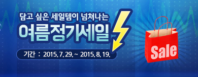 여름정기세일 기간 : 2015년 7월 29일 ~ 2015년 8월 19일