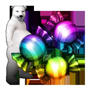 건강한 백곰 변신 캔디 (3개입)