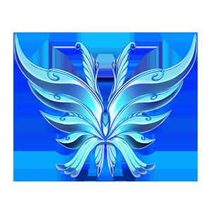 화려한 나비 날개깃