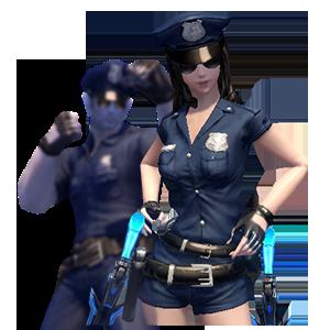 클래식 경찰 의상