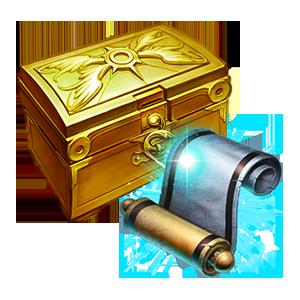 금색 미니온 계약서 상자