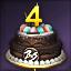 4주년 케이크