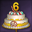 6주년 케이크