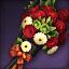꽃다발 환영지팡이